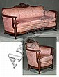 MAHOGANY SETTEE AND ARMCHAIR