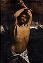 * Attribu  Louis FINSON, d'aprs Guido RENI(1580-1617) Saint Sbastien Toile 134 x 93,5 cm (Restaurations) Reprise du tableau de G..
