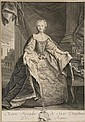Nicolas de LARMESSIN (1684-1755) Marie Josephe de Saxe Dauphine de France