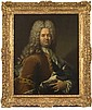 Robert LEVRAC TOURNIERES (Ifs 1667-Caen 1752) Portrait d'homme en habit brun