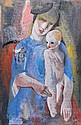 Kdr Bla (Budapest, 1877-Budapest, 1956.): Mother with her child, Bla Kdr, HUF0
