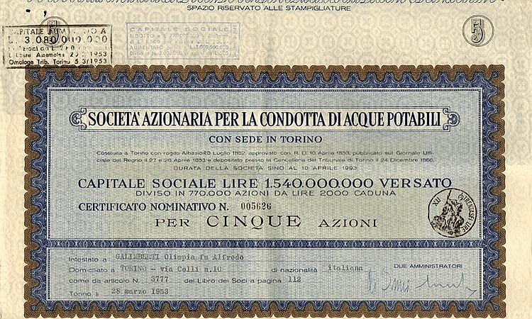Societ Azionaria per la Condotta di Acque Potabili