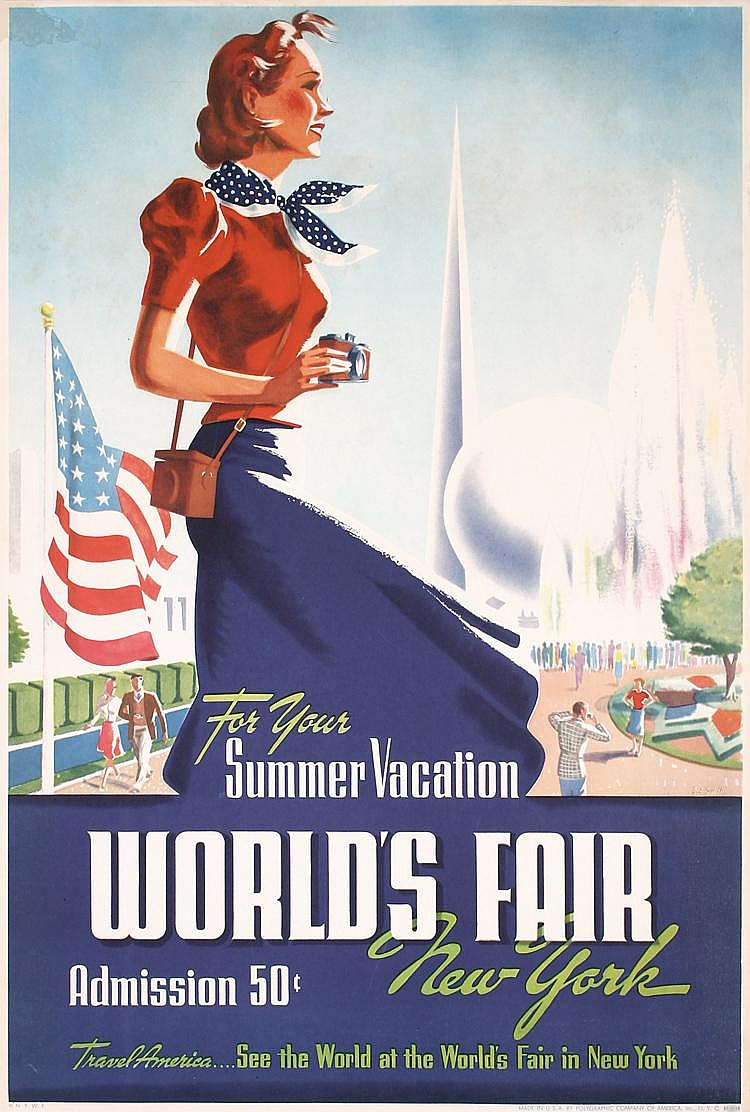 Original 1939 New York Worlds Fair Poster Plakat SMITH
