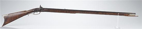 Circa 1840-1850 Percussion-Full Stock Pennsylvania-Style Rifle With Lock Marked