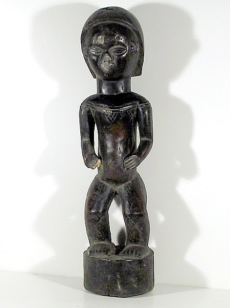 African Nude Man Figure III Sculpture Congo