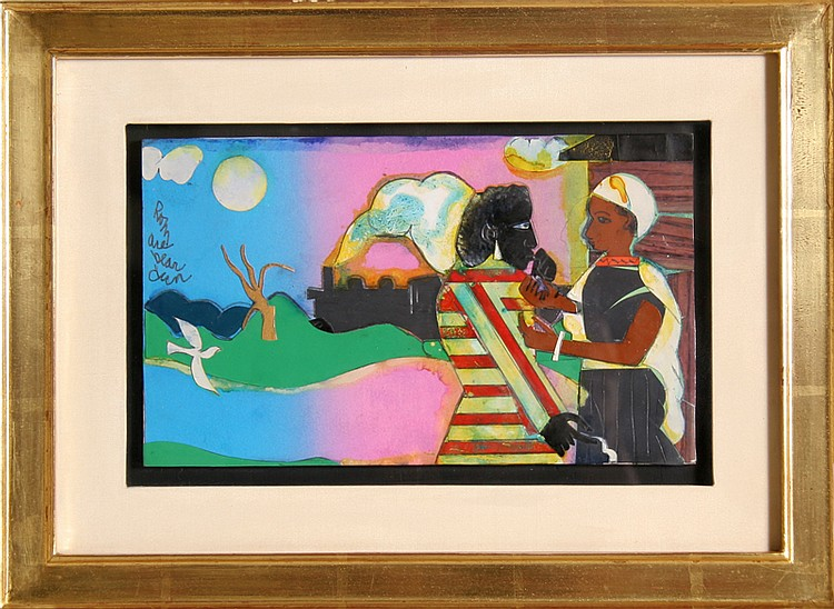 Romare Bearden, Memories #2, Mixed Media Collage