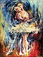 Leonid Afremov, Romeo and Juliet I, Oil Painting