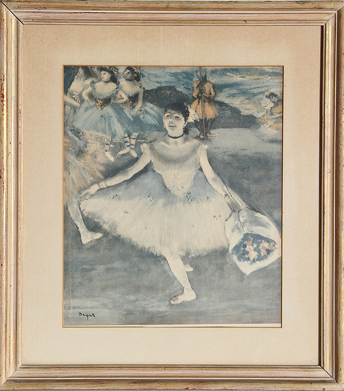 Edgar Degas, Taking a Bow, Poster