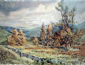 Sophia Atkinson, watercolour, Lake District