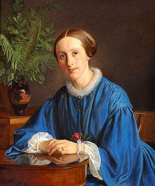 Constantin Hansen: Portrait of a lady.