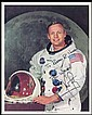 1980s NEIL ARMSTRONG SIGNED COLOR PHOTO