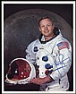 1969 APOLLO 11 NEIL ARMSTRONG SIGNED NASA COLOR LITHO