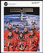 1989-2002 SHUTTLE (STS-30 to STS-111) CREW SIGNED NASA LITHOS (x33)