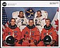2000 STS-97 CREW SIGNED NASA COLOR LITHO
