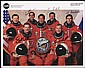 2000 STS-106 CREW SIGNED NASA COLOR LITHO