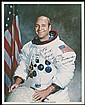 1972 APOLLO 17 RON EVANS SIGNED NASA COLOR LITHO