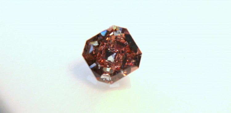 Fancy deep pink radiant-cut 1.5ct diamond