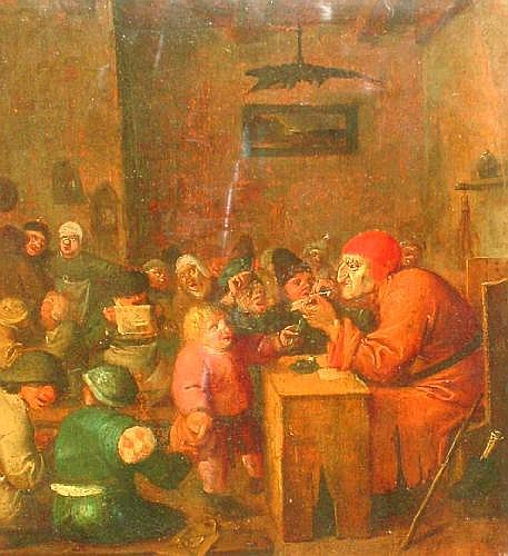 Follower of Adriaen Brouwer 1605/6-1638- Busy