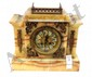 Marble Onyx and White Shelf Clock with Japy Freres Movement