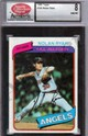 1980 Topps Nolan Ryan Graded SCD NM/MT
