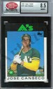 1986 Topps Traded Jose Canseco RC Graded SCD NM/MT+