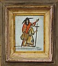 FOLK ART INDIAN PAINTINGartist signedsight- 7 1/2
