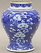 CHINESE BLUE AND WHITE VASE circa early 20th centurynote- drilled on bottomheight- 11 1/2