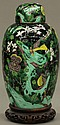 CHINESE PORCELAIN COVERED VASEwith standcirca late 19th/early 20thcenturyheight of vase- 15
