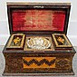 Exquisite Marketry Inlay Dresser Box