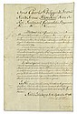 CHARLES X; KING OF FRANCE. Vellum Document Signed,