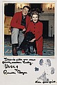 REAGAN, RONALD; AND NANCY REAGAN; AND LUCKY. Color Photograph Signed, by each, and additionally inscribed by the President: