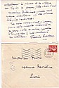POULENC, FRANCIS. Autograph Letter Signed, to Inspector Favere, in French,
