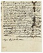 JACKSON, ANDREW. Autograph Letter Signed, twice, to Major Edward George Washington Butler,