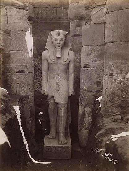 (EGYPT) antonio beato (circa 1832-1906) Binder containing 75 largely unmounted photographs of ancient Egyptian sites in various sizes a