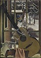 SIMKA SIMKHOVITCH Window Still Life with Guitar.