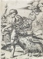 MARCANTONIO RAIMONDI (after Raphael) Young Man with a Lantern