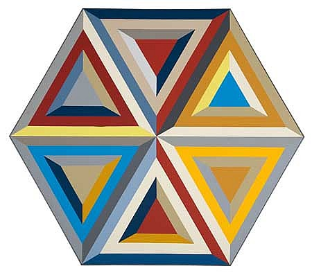 ALVIN D. LOVING, JR. (1935 - 2006) Untitled (Hexagon Composition).