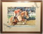 Watercolor Del Noce Horse and Jockey