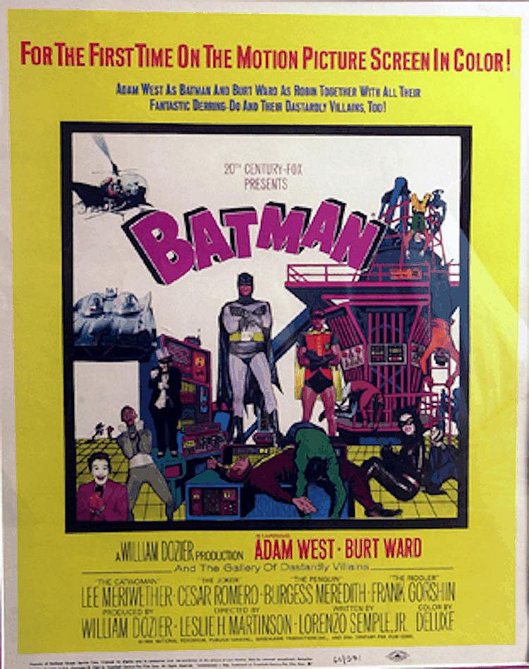 Batman, An original 1967 Batman movie poster