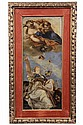 OIL ON CANVAS LAID TO BOARD - Sketch/Fragment for the Ceiling Fresco of the Church of San Felice by Giovanni Battista Tiepolo (Italy, 1