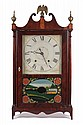 FEDERAL PERIOD SHELF CLOCK - 30 hour time and strike wooden works Pillar and Scroll Shelf Clock by C. Kirke, Bristol, Connecticut. 32