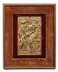 FLEMISH GILT COPPER PLAQUE - 17th c 'Ecce Homo' in repousse, depicting Christ being led before Pilate by a soldier and a priest. In g