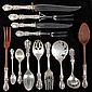 CASED STERLING SILVER FLATWARE - (105) pieces of Reed & Barton sterling silver flatware in the Francis I pattern, in a felt lined, sing