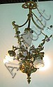 Bronze four light chandelier