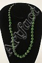 Very fine green jade & 14kt gold spacer beads