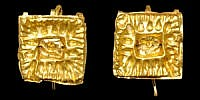Roman Gold Earring Pair A matched pair of gold