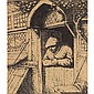 Adriaen Jansz van Ostade A Peasant Leaning on his Doorway etching, Adriaen Jansz. Van Ostade, $0