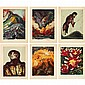David Alfaro Siqueiros Untitled group of six prints color lithographs, David Alfaro Siqueiros, &#x0024;0