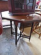 An Edwardian mahogany octagonal occasional table