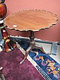 A George III piecrust tripod table